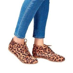 Dolce Vita DV Leopard Lace Up Bootie Shoe Boot